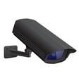 security camera black cctv surveillance system vector image vector image