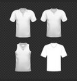 set soccer or football kit template for your vector image vector image