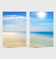 set two banners with summer background ocean vector image