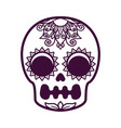skull for a religious holiday vector image vector image