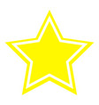 star icon yellow color vector image
