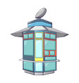 street shop kiosk icon cartoon style vector image vector image