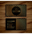 stylish black and golden zigzag shapes business vector image vector image
