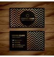 Stylish black and golden zigzag shapes business