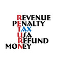 tax return meaning words vector image
