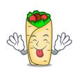 tongue out burrito mascot cartoon style vector image vector image