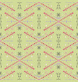 tribal green seamless pattern in ethnic style vector image vector image