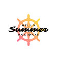 typography summer holidays t-shirt design vector image vector image
