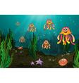 Underwater creatures vector image