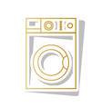 washing machine sign golden gradient icon vector image vector image