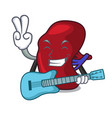 with guitar spleen mascot cartoon style vector image