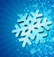 3d snowflake vector image