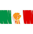 italy flag independence painted brush stroke with vector image