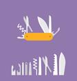 multifunctional pocket knife icon vector image
