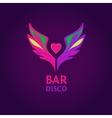 Night club disco beach party bar show vector image