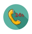 Service and telephone support vector image