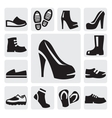 boots men and women vector image