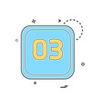 3 date calender icon design vector image vector image