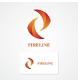 Abstract fire logo vector image vector image