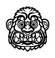angry monkey head vector image vector image