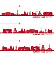 burkina faso travel destination vector image vector image