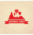 cappadocia turkey detailed silhouette vector image