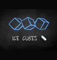 chalk drawn ice cubes vector image vector image