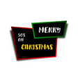 christmas banner christmas ribbon and sticker vector image vector image