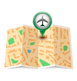 City map with label pin vector image vector image