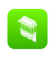 classic balcony icon green vector image vector image