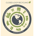Closed-loop recycling vector image
