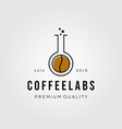 coffee lab hipster retro vintage logo badges vector image vector image