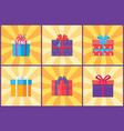 collection of present packages surprises vector image