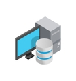 Computer data storage icon isometric 3d style vector image vector image