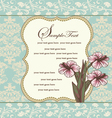 damask floral invitation card vector image