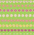 easter flowers in rows seamless background vector image