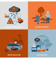 Environmental Problems Icons Set vector image vector image
