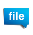 File blue 3d realistic paper speech bubble vector image vector image