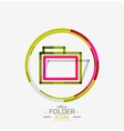 Folder logo stamp Accounting binder vector image