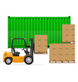 freight transportation concept 02 vector image vector image