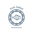 Fresh seafood emblem