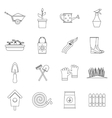 Gardening icons set outline style vector image vector image