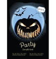 Halloween poster on the background of a vector image vector image