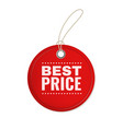 hanging paper offer label red round vintage price vector image