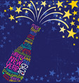 happy new year 2019 champagne bottle stars vector image vector image
