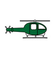 helicopter flat vector image vector image