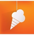 Ice cream web icon vector image