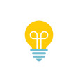 icon lightbulbs with filament - device for vector image vector image