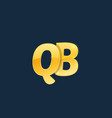initial letters qb q b with logo design vector image