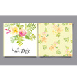 invitation card with watercolor flowers Bridal vector image vector image